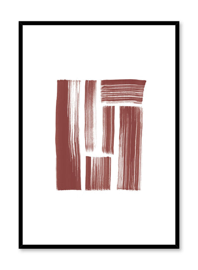 Modern minimalist poster by Opposite Wall with red brushstroke design