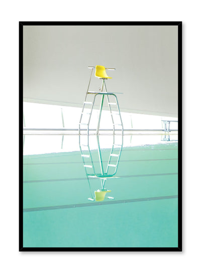 Minimalist design poster by Opposite Wall with photography of lifeguard chair by pool