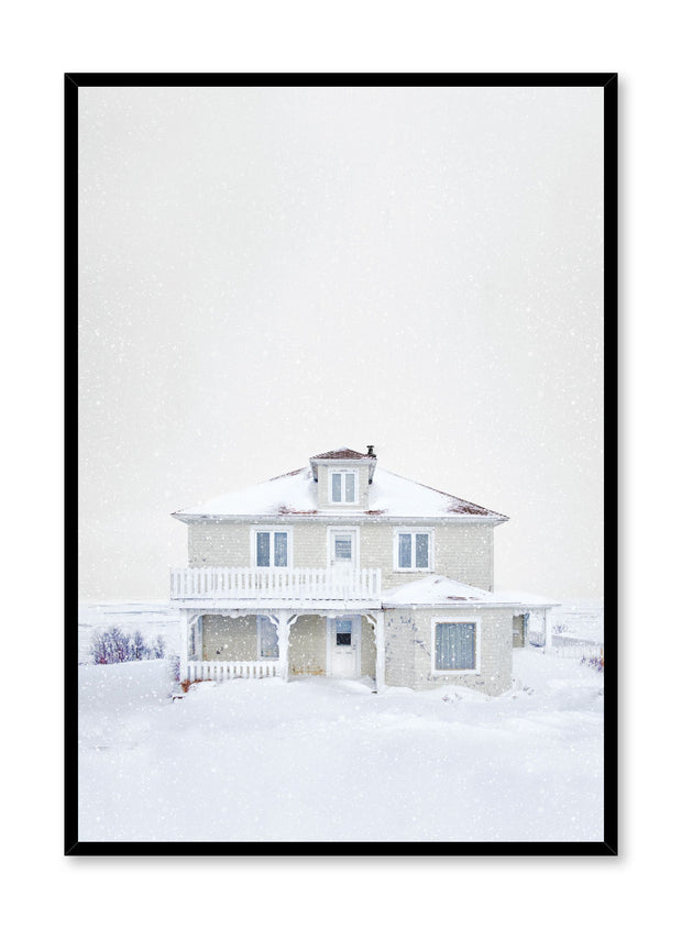 Minimalist design poster by Opposite Wall with House in Winter photography