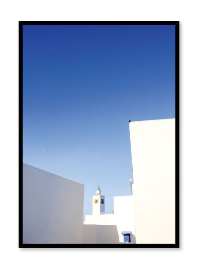 Minimalist design poster by Opposite Wall with photography of mediterranean rooftops