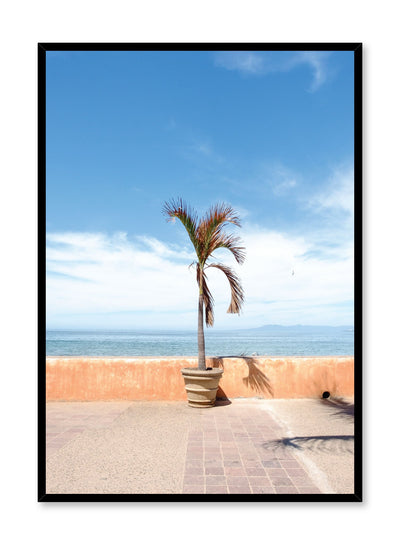 Minimalist design poster by Opposite Wall with photography of palm tree on beach