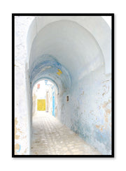 Minimalist design poster by Opposite Wall with photography of covered alleyway