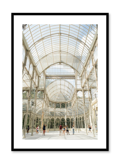 Minimalist design poster by Opposite Wall with photography of glass hall architecture