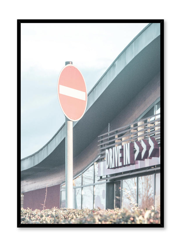 Minimalist design poster by Opposite Wall with urban photography of drive-in