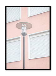 Minimalist design poster by Opposite Wall with urban photography of street lamp