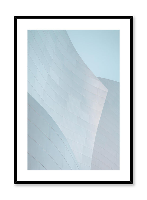 Minimalist design poster by Opposite Wall with urban photography of grey building architecture waves