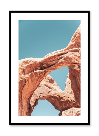 Minimalist design poster by Opposite Wall with photography of red rock formations