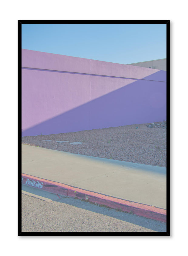 Minimalist design poster by Opposite Wall with photography of street painted purple