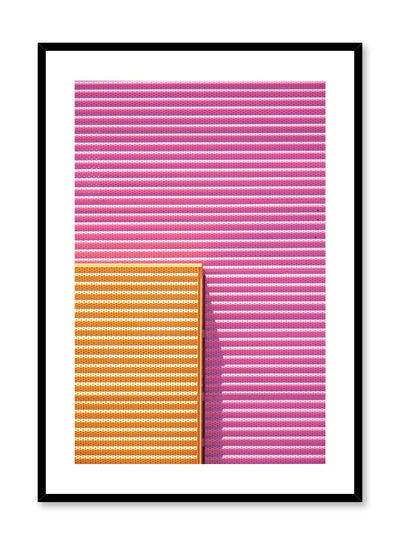 Minimalist design poster by Opposite Wall with photography of bright pink and orange wall