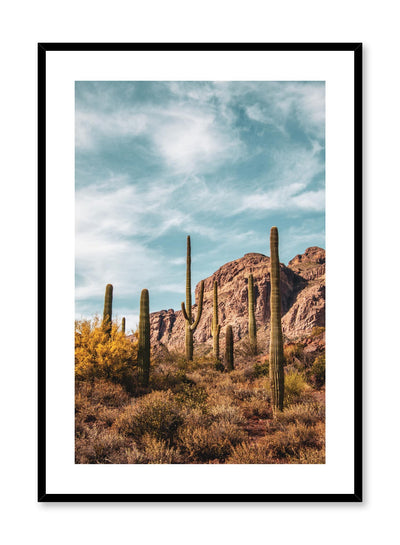 Minimalist design poster by Opposite Wall with photography of Arizona cactus landscape