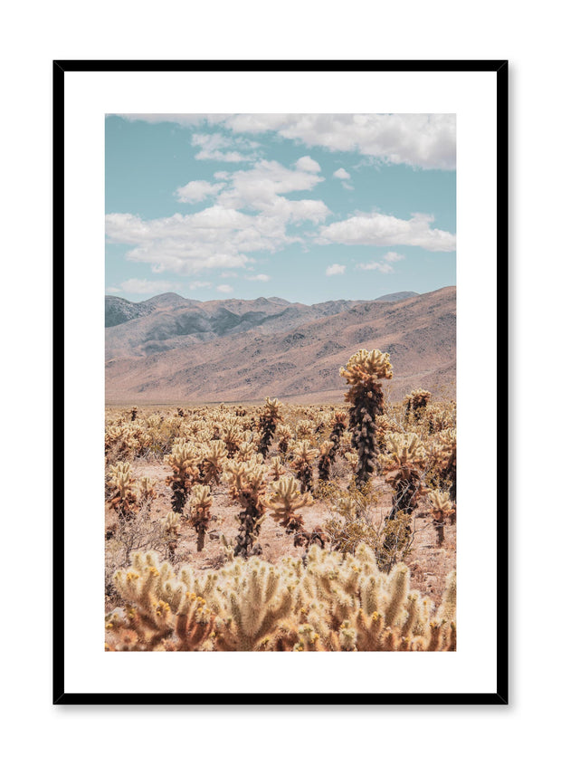 Minimalist design poster by Opposite Wall with landscape photography of desert