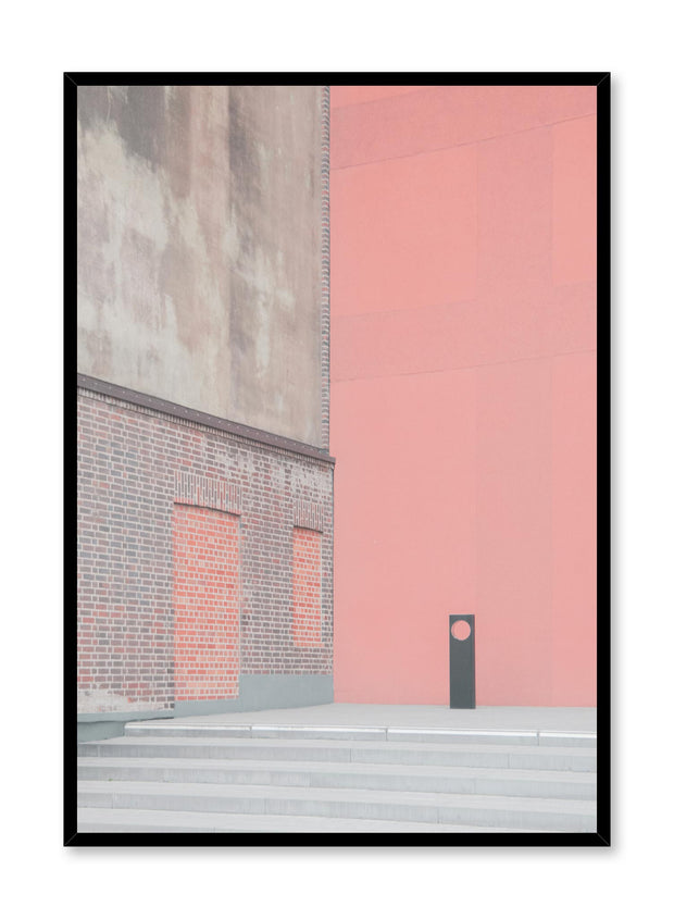Minimalist design poster by Opposite Wall with urban photography of bright pink wall