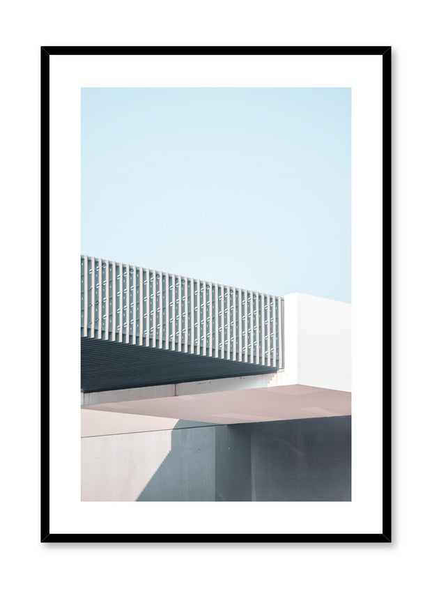 Minimalist design poster by Opposite Wall with urban photography of industrial overpass
