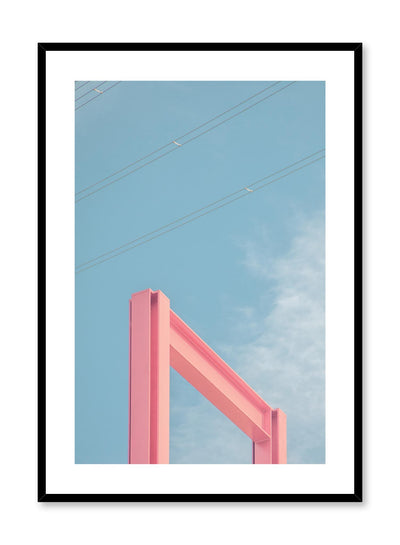 Minimalist design poster by Opposite Wall with urban photography of pink arch