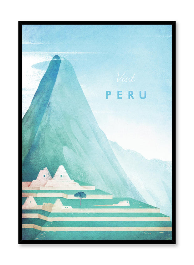 Modern minimalist poster by Opposite Wall with illustration of Peru