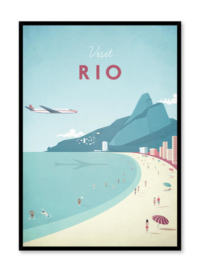 Modern minimalist travel poster by Opposite Wall with illustration of Rio, Brazil