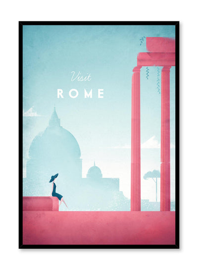 Modern minimalist travel poster by Opposite Wall with illustration of Rome
