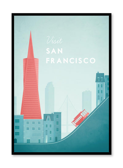 Modern minimalist travel poster by Opposite Wall with illustration of San Francisco