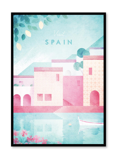 Modern minimalist travel poster by Opposite Wall with illustration of Spain