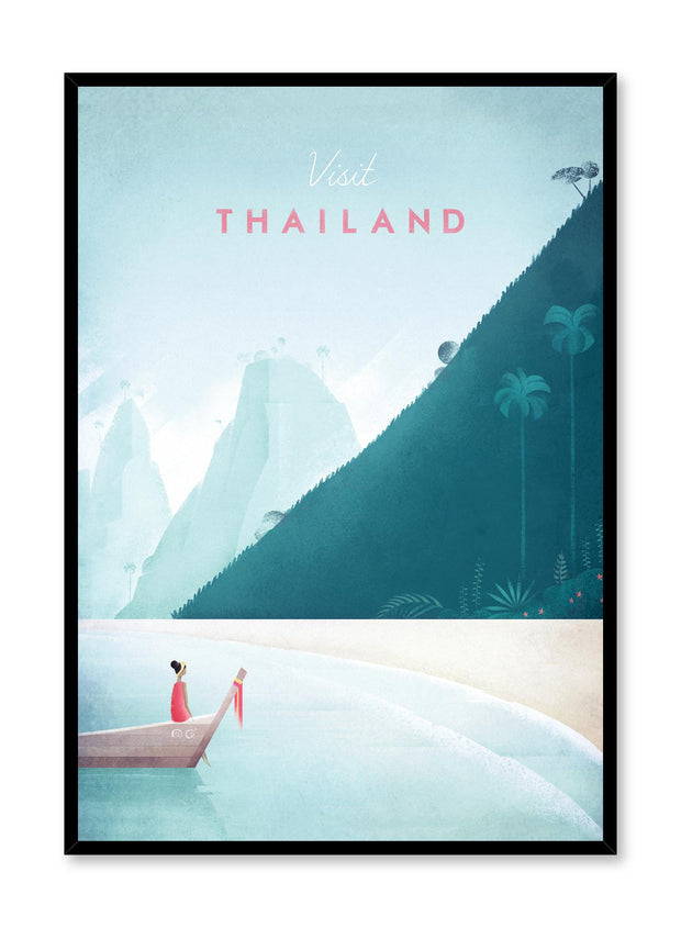 Modern minimalist travel poster by Opposite Wall with illustration of Thailand