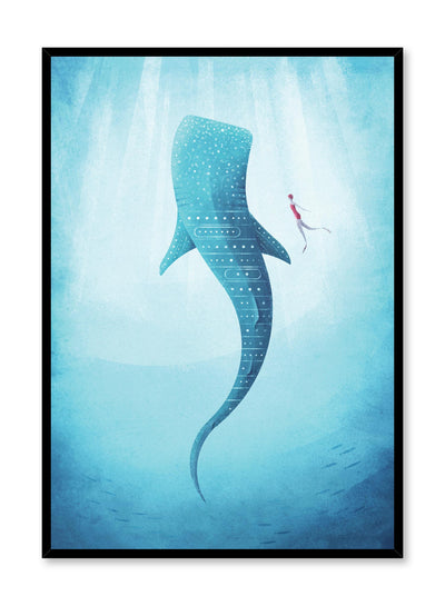 Modern minimalist travel poster by Opposite Wall with illustration under the sea