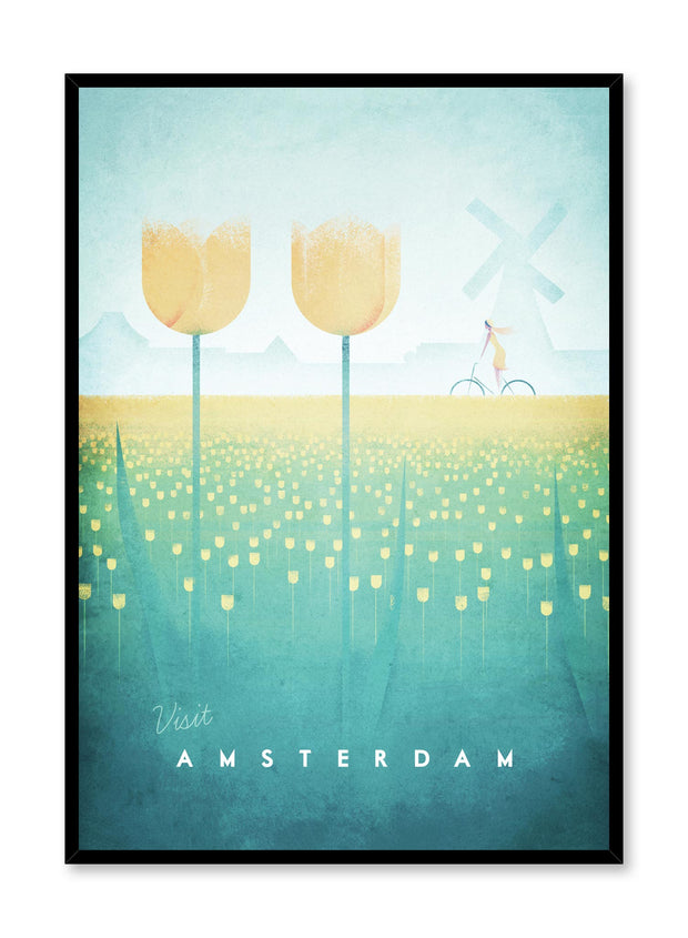 Modern minimalist travel poster by Opposite Wall with illustration of Amsterdam, Netherlands