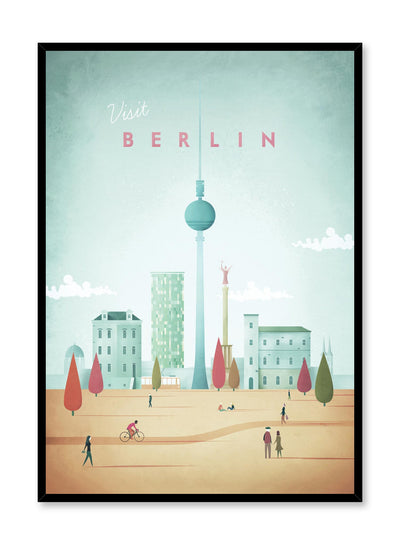 Modern minimalist travel poster by Opposite Wall with illustration of Berlin