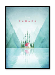 Modern minimalist travel poster by Opposite Wall with illustration of Canada