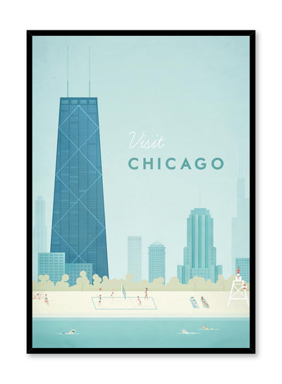 Modern minimalist travel poster by Opposite Wall with illustration of Chicago