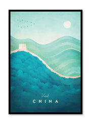 Modern minimalist travel poster by Opposite Wall with illustration of China