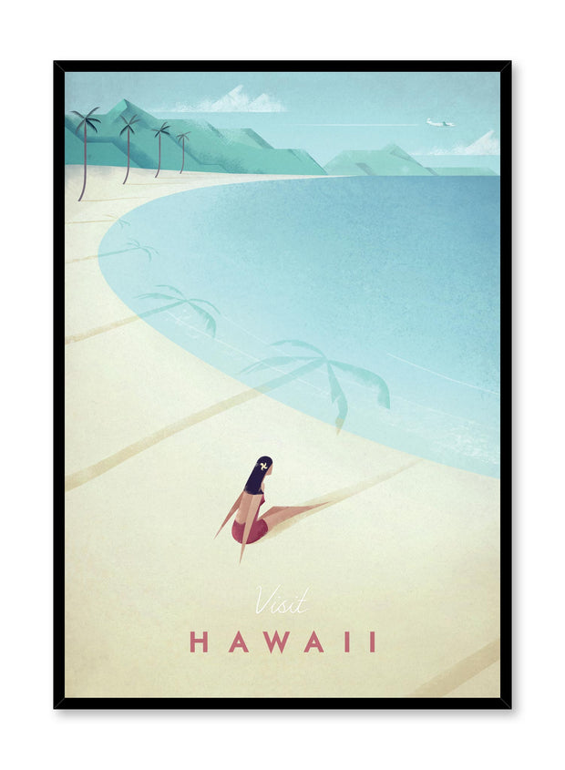 Modern minimalist travel poster by Opposite Wall with illustration of Hawaii