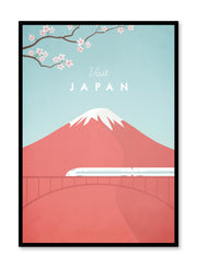 Modern minimalist travel poster by Opposite Wall with illustration of Japan