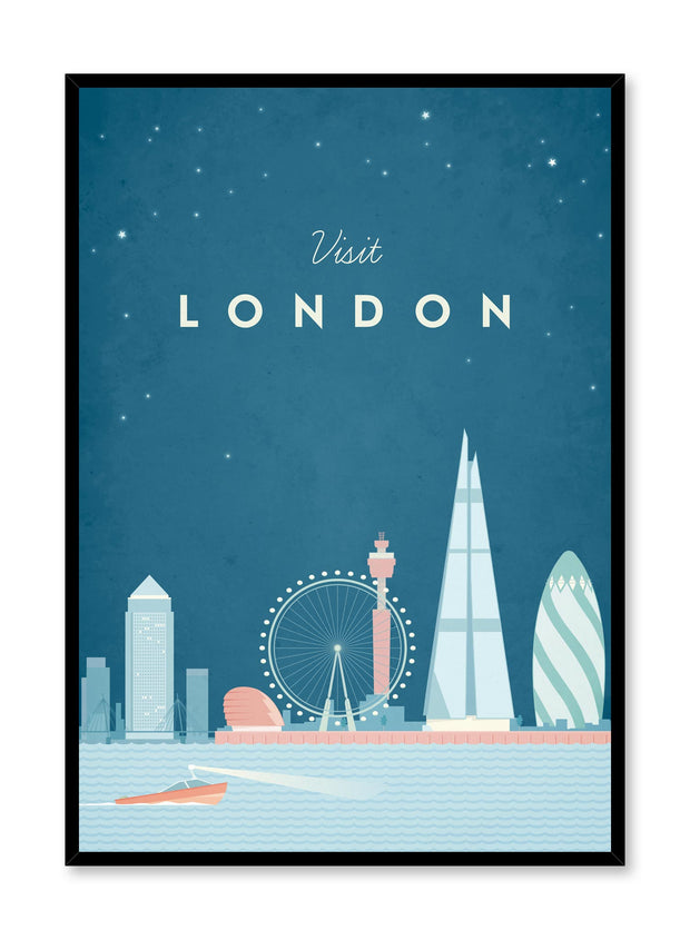 Modern minimalist travel poster by Opposite Wall with illustration of London