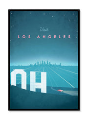 Modern minimalist travel poster by Opposite Wall with illustration of Los Angeles