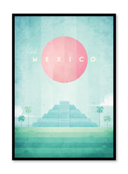 Modern minimalist travel poster by Opposite Wall with illustration of Mexico
