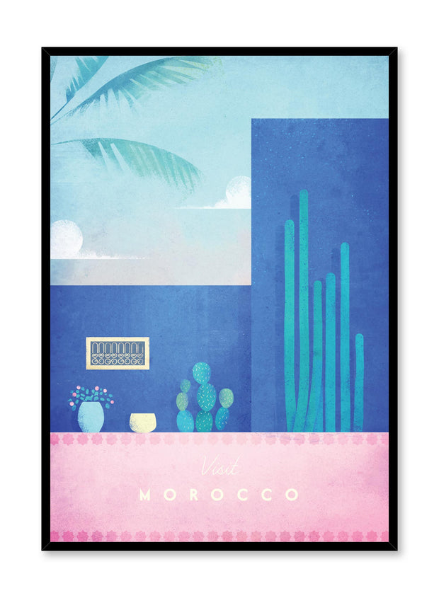 Modern minimalist travel poster by Opposite Wall with illustration of Morocco
