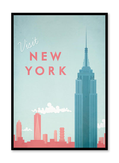 Modern minimalist travel poster by Opposite Wall with illustration of New York