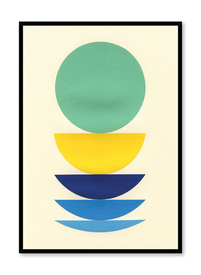 Modern minimalist poster by Opposite Wall with abstract collage illustration of colourful shapes