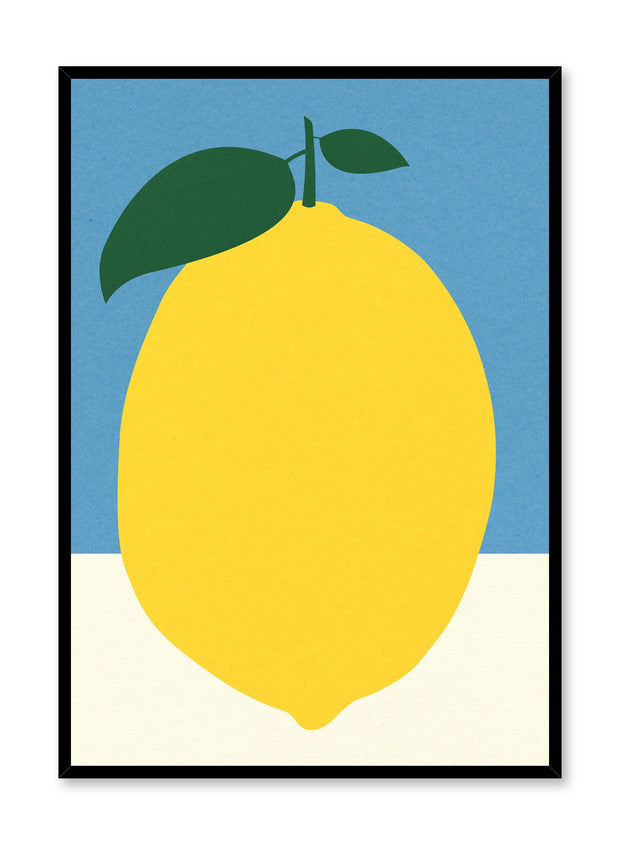 Modern minimalist poster by Opposite Wall with abstract collage illustration of lemon citron