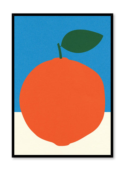 Modern minimalist poster by Opposite Wall with abstract collage illustration of orange