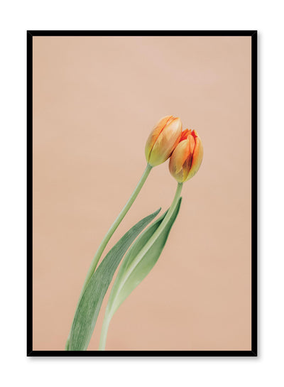 Minimalistic wall poster by Opposite Wall with tulip flower photography