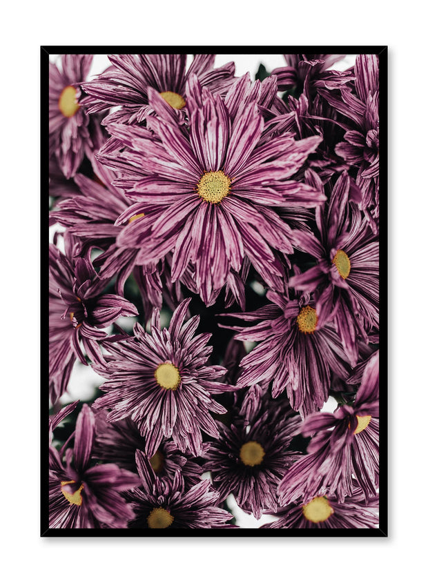 Minimalistic wall poster by Opposite Wall with mauve blossoms floral photography