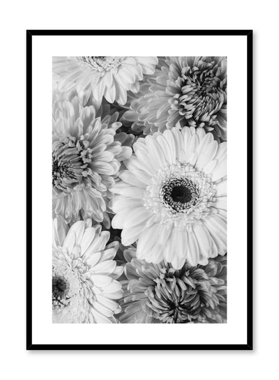 Minimalistic wall poster by Opposite Wall with bouquet of gerberas floral photography