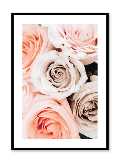 Minimalistic wall poster by Opposite Wall with bouquet of roses floral photography