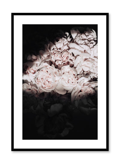 Minimalistic wall poster by Opposite Wall with peonies floral photography