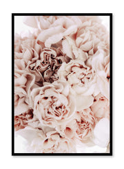 Minimalistic wall poster by Opposite Wall with bouquet of peonies floral photography