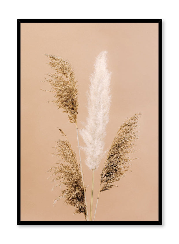 Minimalistic wall poster by Opposite Wall with Gathering of Grasses botanical photography