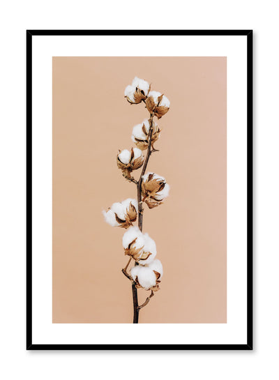 Minimalistic wall poster by Opposite Wall with cotton branch photography