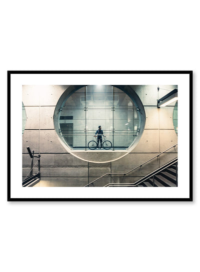 Minimalist design poster by Opposite Wall with urban photography in metro station