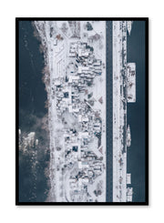 Minimalist design poster by Opposite Wall with urban aerial photography of Habitat 67